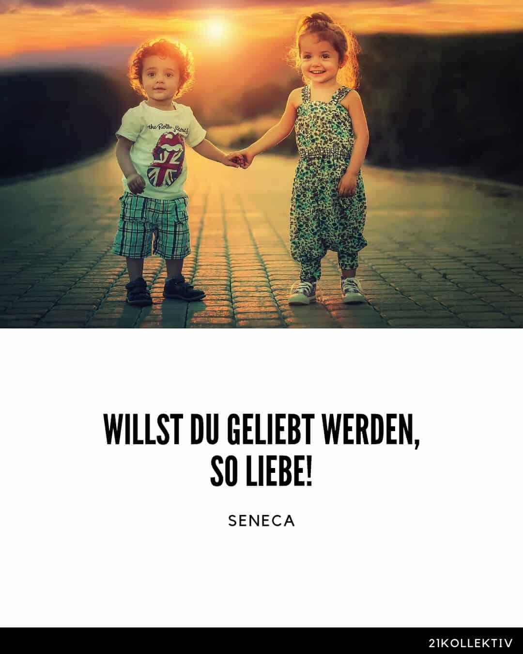 Die Wohl wichtigste Lebensweisheit von Seneca: Willst du geliebt werden, so liebe!
