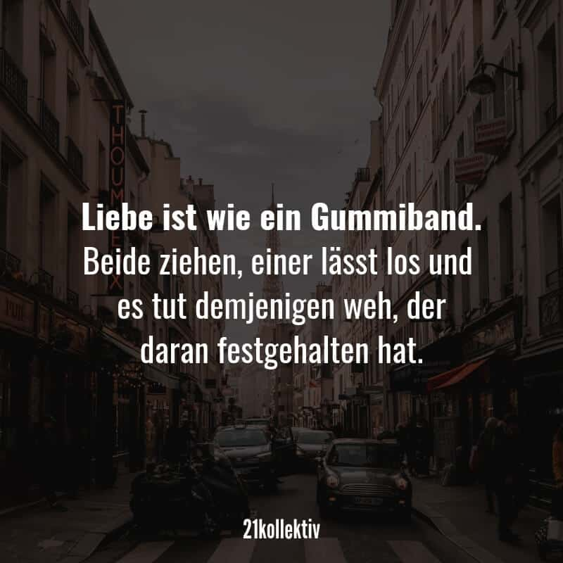 Passender Liebeskummer-Spruch!