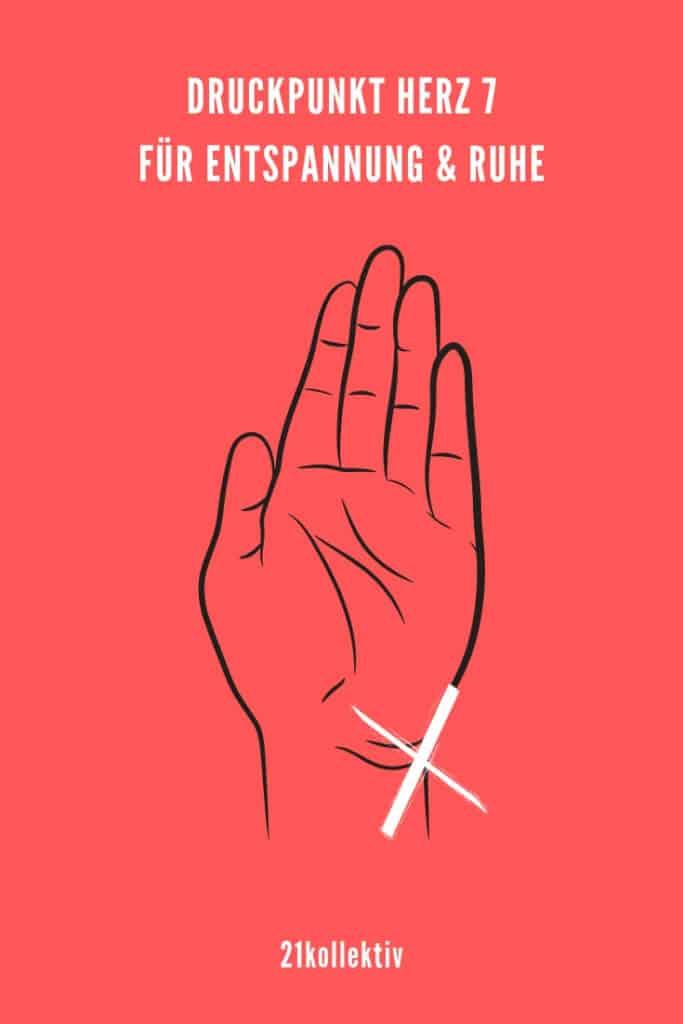 Druckpunkt Herz 7 bei Innerer Unruhe | 21kollektiv